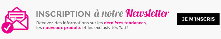 Inscription newsletter TATI